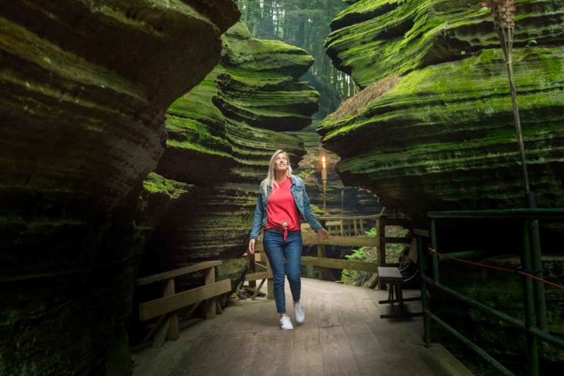 Girl at Witches Gulch Wisconsin Dells