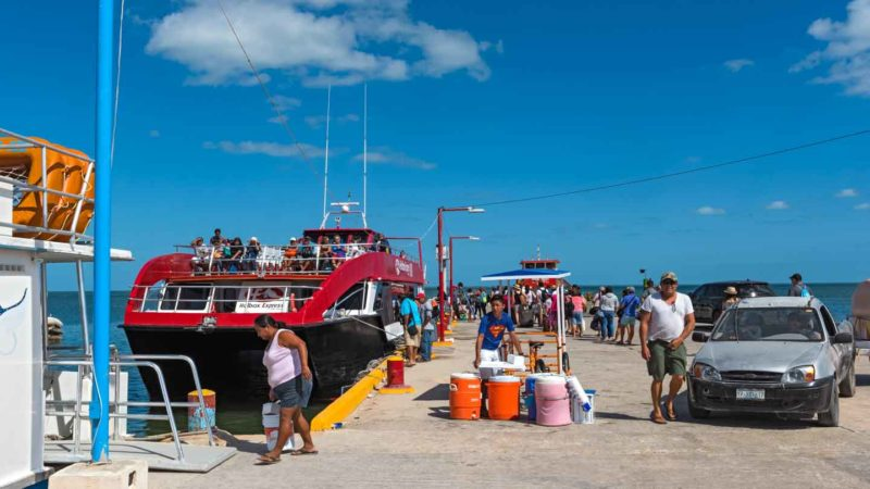 Holbox Ferry to Isla Holbox Mexico