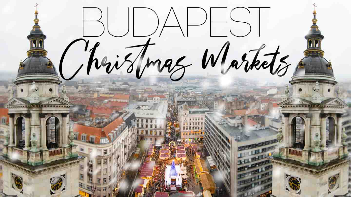 View from the top of St. Stephen's Basilica - Best Budapest Christmas Markets Featured Image