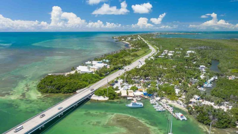 Aerial View of the Overseas highway the drive from Miami to Key West - Road Trip Guide for the Florida Keys