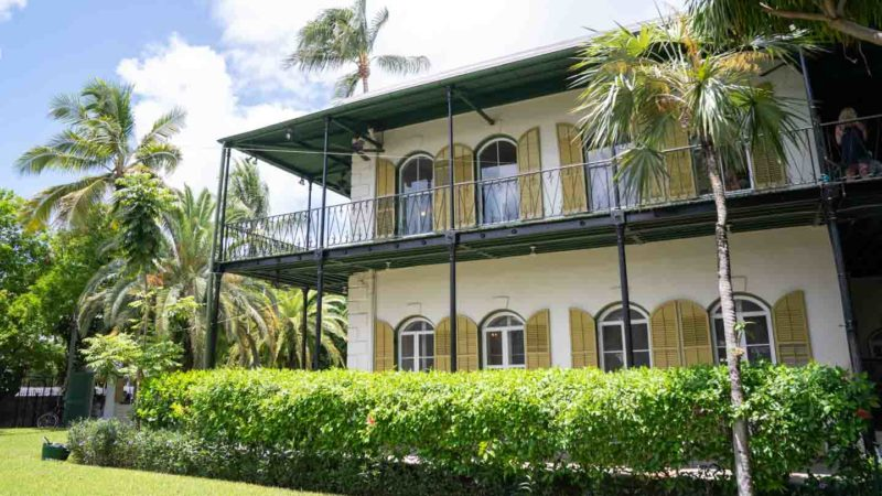 Exterior view of the Hemingway House in Key West - Top road trip attractions