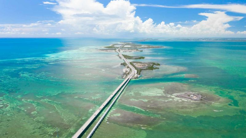 Aerial View of the lower keys and Key West - Road Trip Guide to the Florida Keys