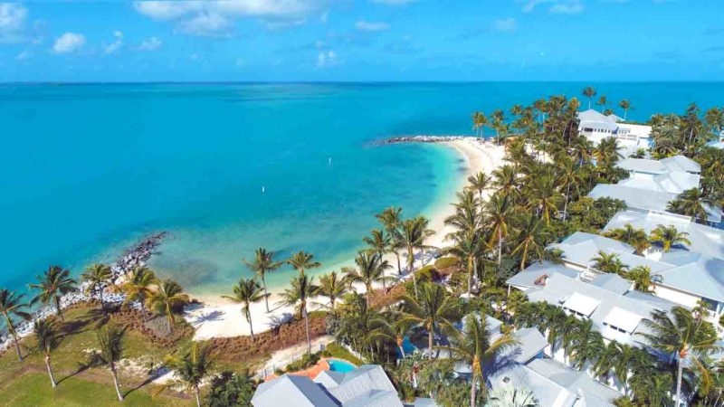 Aerial Photo of Fort Zachary Taylor Beach - Things to do in Key West
