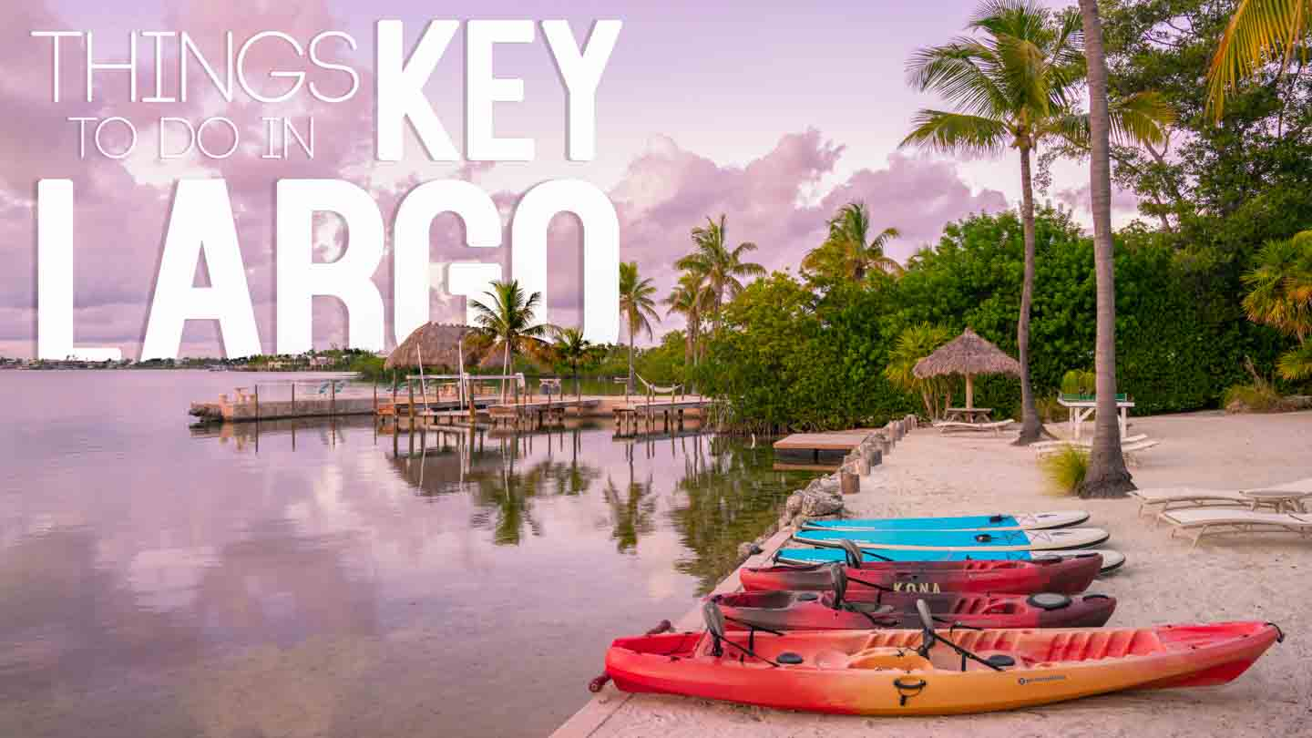 sunset in the Florida Keys - Featured image with text over Things to do in Key Largo