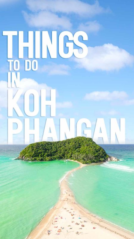Drone photo of Koh Phangan Thailand - Pin for Things to do