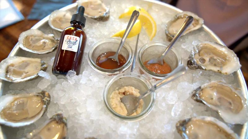 Plate of Oysters at Casa Pearl in Williamsburg - Restaurant Guide