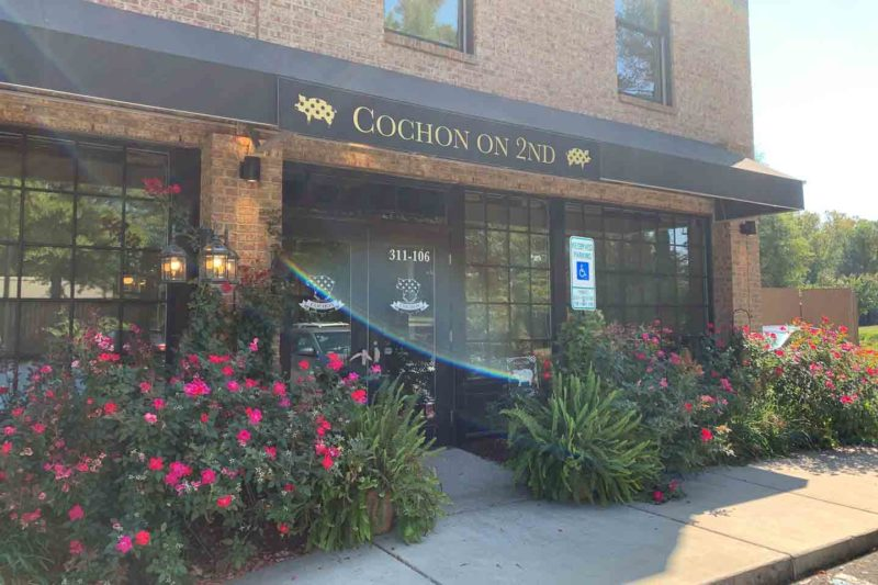 Exterior view of Cochon on 2nd - Top lunch spot in Williamsburg VA