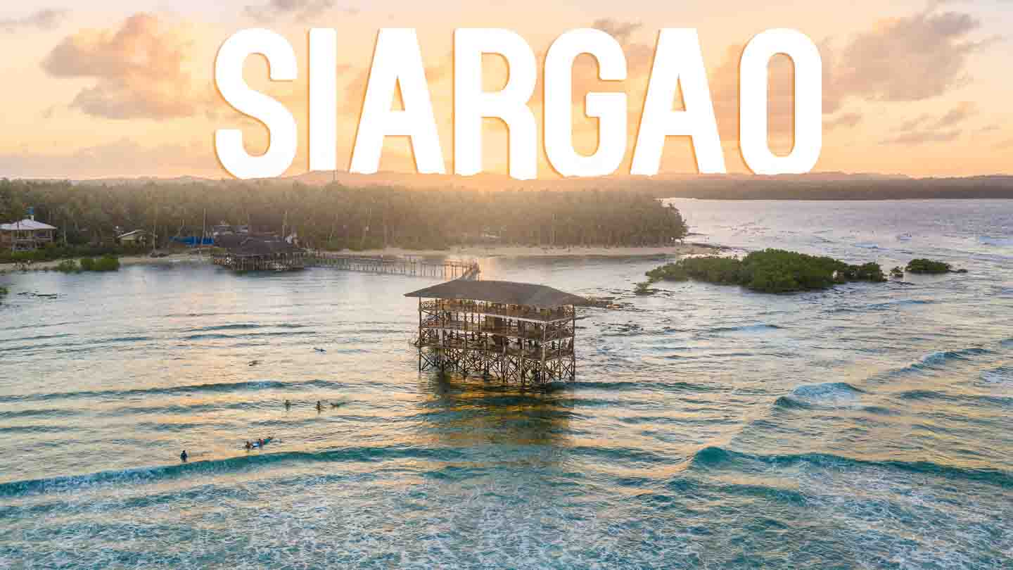 Aerial Photo of Cloud 9 Surf Break - Featured Image for Siargao Island Philippines