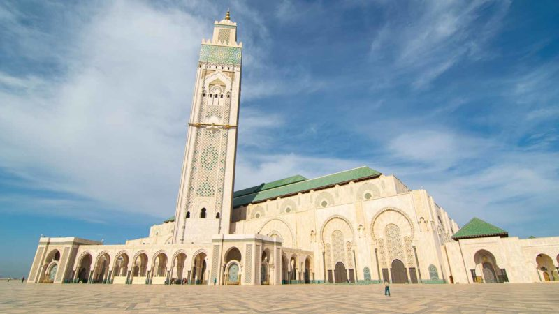 View of the exterior of the Hassan II Mosque Casablanca - Must see Morocco