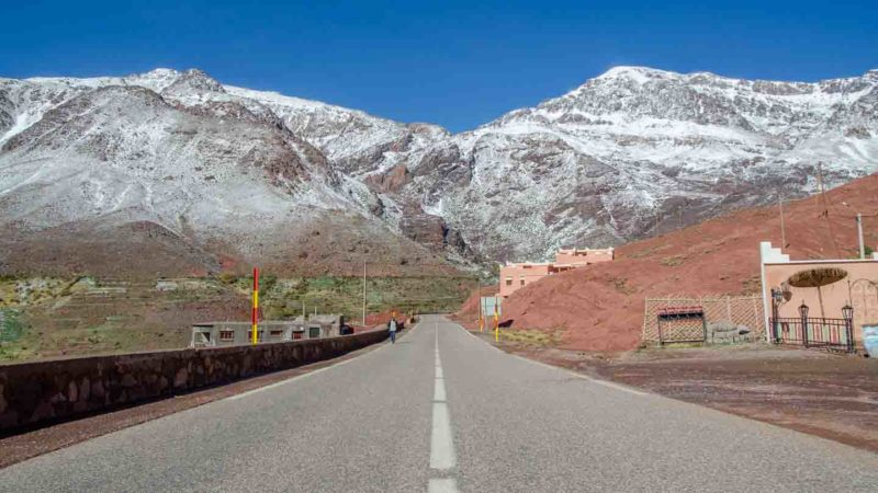 Road through the Atlas Mountains - Places to see in Morocco
