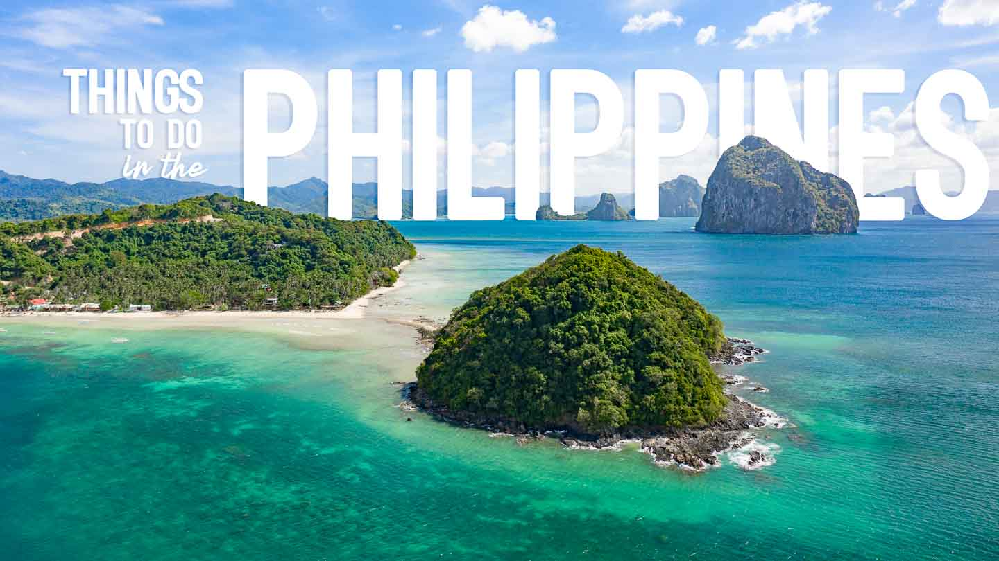 Islands in El Nido Bay Palawan - Featured Image for Things to do in the Philippines