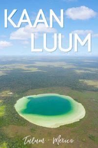 Aerial view of the entire Lagoon of Laguna Kaan Luum - Pin