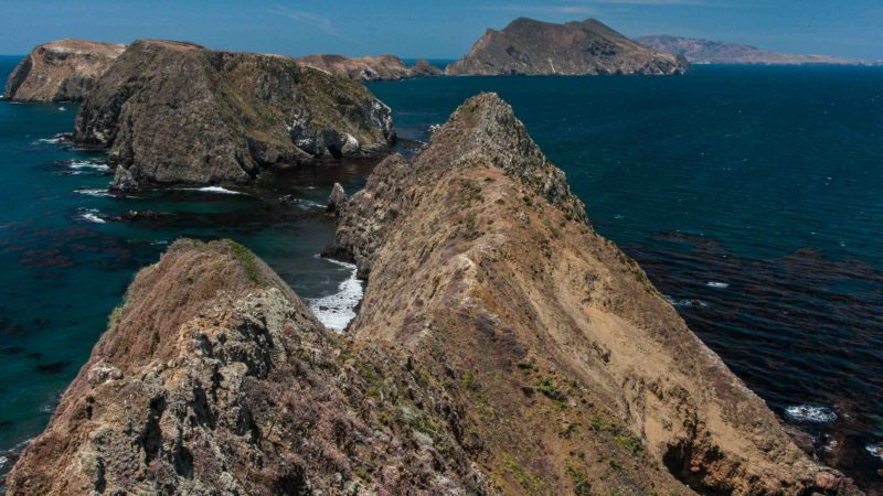 Aerial view of Channel Island National Park near LA
